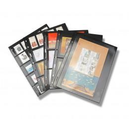10 unids/lote líneas de sellos rejilla PVC transparente Página de sello álbum hojas sueltas inners de sellos portadores sin incl