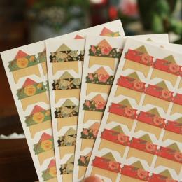 96 unids/lote 4 hojas Vintage flores papel para esquinas DIY pegatinas para álbum de fotos Scrapbooking proteger álbumes de foto