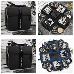 Caja de regalo de boda caja de explosión caja sorpresa foto pegatinas para álbum para regalo sorpresa de cumpleaños de San Valen