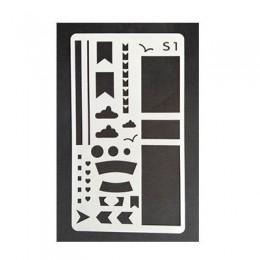 1 Uds. A6 Plantilla de pintura diy tarjeta de regalo hecha a mano álbum de fotos diario de recortes regla de plástico herramient