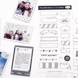 Seis hojas de pegatinas de papel de calendario, pegatinas y DIY the clipbook polarizadas. El álbum con juguetes tradicionales