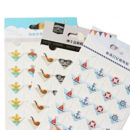 24 unids/lote DIY Ocean series lindas pegatinas de papel para álbumes de fotos excelente trabajo a mano marco decoración papel p