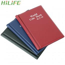 HILIFE para álbumes de soporte de monedas 120 bolsillos colección de monedas álbum de colección de libros organizador de dinero