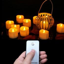 Paquete de 12 o 24 velas votivas a batería con mando a distancia, velas Led a distancia, pequeñas luces de té, velas de fiesta,