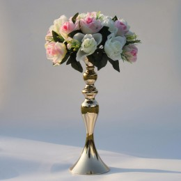 """Portavelas de oro 50 cm/20 """"candelabro de Metal florero MESA CENTRO DE MESA evento florero camino plomo decoración de boda"""