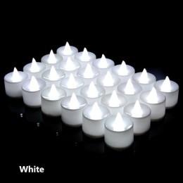 24 Uds LED vela té luz batería lámpara simulación Color llama parpadeante hogar boda cumpleaños fiesta decoración velas