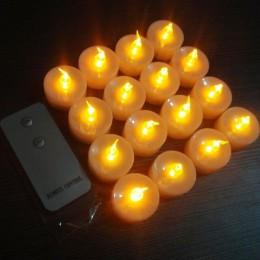 Paquete de 12 velas LED parpadeantes electrónicas sin llama a Control remoto brillo té luz ámbar para fiesta de boda Navidad Dec