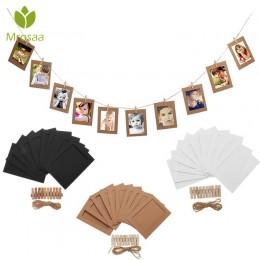 10 Uds 5 pulgadas DIY moderno marco de fotos combinado para pared colgante fotos foto álbum decoración marcos de papel con Clips