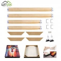 Marco de madera para lienzo pintura al óleo naturaleza madera DIY marco de cuadro para Bar pintura al óleo arte de pared de vari