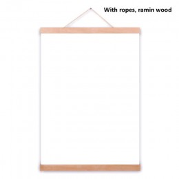 Cartel de madera colgador marco de fotos blanco negro DIY cuadro lienzo impresión colgante pared arte decoración del hogar 21-60