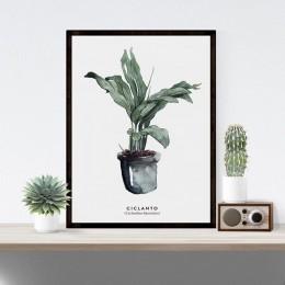 Elegante Impresión de planta verde elegante imagen hogar Decoración de Hotel regalo (sin marco)