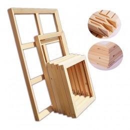 Marca KKYGU marco de madera para imagen pintura al óleo DIY de marcos de madera de pared foto marco Set cartel marco marcos de f