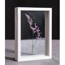 SUFEILE HD vidrio espécimen foto marco DIY muestra de planta foto marco creativo decorativo de madera 10 pulgadas/8 pulgadas D50