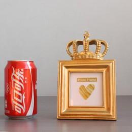 1 pieza de lujo estilo barroco oro corona decoración creativa resina cuadro marco para escritorio foto marco regalo hogar boda d