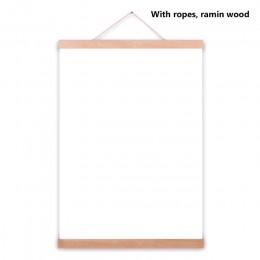 Marco magnético de madera para colgar carteles foto marco blanco negro DIY cuadro lienzo impresión colgante pared arte hogar Dec