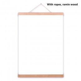Marco de fotos de madera magnético moderno DIY personalizado póster desplazamiento impresiones de arte colgador de madera Ramin