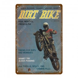 Cartel de Metal TT Isle Of Man carreras de motos Retro Placa de arte de la pared pintura placa Pub Bar garaje hogar Decoración V