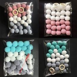 30 bolas de pelo estilo escandinavo hogar suave equipado habitación de los niños chica casa hecha a mano pared fieltro bola deco