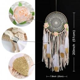OurWarm Boho sueño Catcher decoración colgante para el hogar atrapasueños unicornio Luna búho flor decoración boda obsequios par