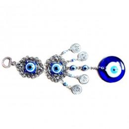 Amuleto Ojo Azul malvado protección turcas campanas de viento colgante de pared hogar decotación bendición regalo colgante de la