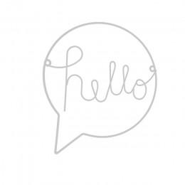 Hierro de estilo nórdico Hello adhesivo con diseño de letras para pared para chico decoraciones colgantes pasillo signo de bienv