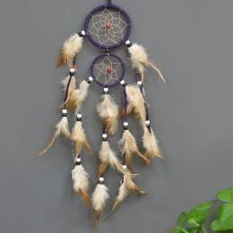 Atrapasueños Retro plumas decoración del hogar 1 pieza decoración para coche atrapasueños pluma colgante de pared de moda Vintag