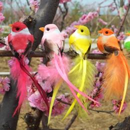 Espuma Artificial pluma pájaro estatuilla ornamento césped patio jardín árbol Decoración