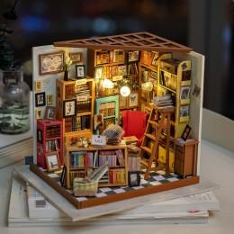 Rolife Home Decoration figurita DIY Sam estudio habitación madera miniatura modelo Kits decoración casa de muñecas regalo de cum
