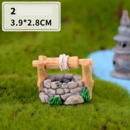 Mini faro agua puente figurines en miniatura artesanías de hadas para jardín Gnomo Moss Terrario de regalo DIY adorno decoración