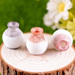Florero de boca pequeña miniatura de resina DIY accesorio para manualidades hogar florero de resina decorativa para jardín peque