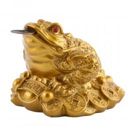 Feng Shui sapo dinero suerte fortuna y riqueza chino de rana, sapo moneda hogar Oficina Decoración de mesa decoración regalos de