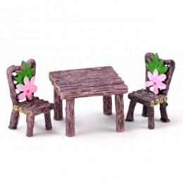 4 estilo silla Mini casa decoración miniaturas de jardín de hadas adornos figuras DIY juguetes acuario/casa de muñecas y accesor