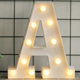 Luminoso LED letra luz de noche lámpara letra del alfabeto inglés o número boda fiesta decoración Navidad decoración del hogar A