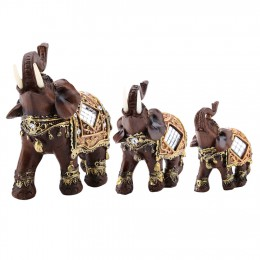 Suerte Feng Shui elefante de grano de madera estatua escultura de la riqueza figurita regalo tallado Natural decoración para el