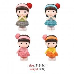 4 Uds. Hermosa pura chica miniatura figurita con bonsái decorativo Mini Jardín de hadas personas estatua musgo adornos artesanal