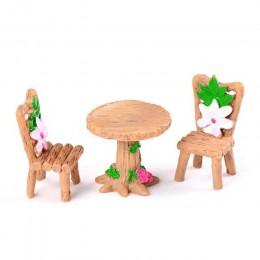 3 unids/set Silla de mesa de resina artesanía micro adorno de paisaje Hada en miniatura de jardín estatuilla de terrario Bonsai