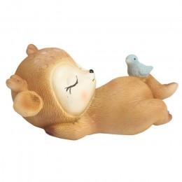 Estatua de venado bebé durmiendo Mini figura de venado en 3D resina artesanías arte decoración para casa jardín coche Decoración