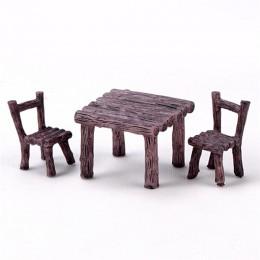 3 unids/set de silla para mesa de jardín cifras paisaje en miniatura adornos de resina estatuilla para las plantas Bonsai Decora