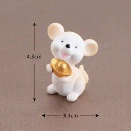 Dinero fortuna dibujos animados ratón oso ratón adornos ricos ratones pequeña estatua pequeña estatuilla artesanías Animal lindo