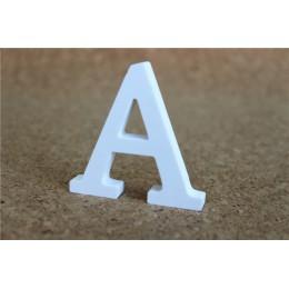8cm de pie libre de madera Artificial letras blancas de madera para decoraciones de boda y decoraciones del hogar de regalos de