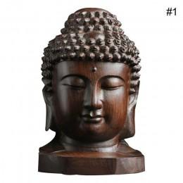 6cm estatua de Buda madera Sakyamuni Tathagata figurita caoba India Buda cabeza estatua artesanías decorativas Envío Directo