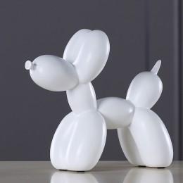 Nueva moda de resina globo perro escultura artesanal regalos creativos modernos simples decoraciones para el hogar estatuas 8 co