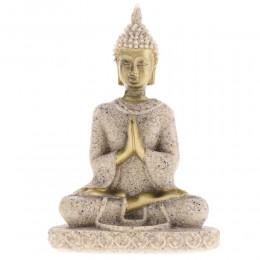 MagiDeal piedra arenisca Hue estatua de Buda para meditación escultura figurita hecha a mano meditación adornos en miniatura est