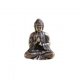 Mini portátil Vintage estatua de bronce de Buda bolsillo sentado figura de Buda escultura hogar Oficina escritorio decorativo ju