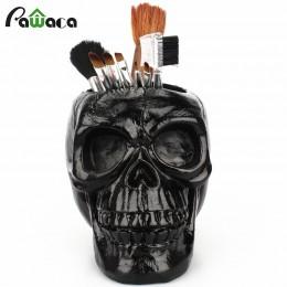 3D cráneo cabeza estatuilla esqueleto ornamento papelería titular maquillaje almacenamiento contenedor flor maceta joyería caja