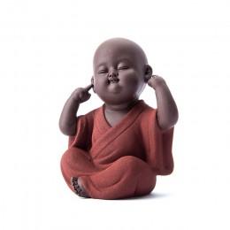 Hecho a mano mascota de té de buda zisha buda té de monje para mascota accesorios de té kung fu juego de té K001