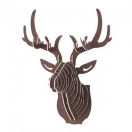 Urejk 3D madera DIY Animal cabeza de ciervo modelo de arte hogar Oficina colgante de pared decoración almacenamiento soportes es