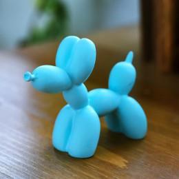 Lindo pequeño globo perro estatuas resina escultura artesanías regalos moda pastel hornear fiesta postre decoración del hogar or