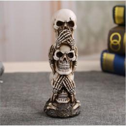 Envío Gratis resina artesanal calavera humana estatua de alta calidad creativa estatua regalo decoración del hogar cráneo humano
