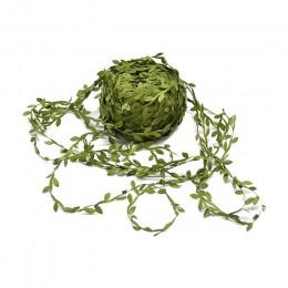 10 metros de seda en forma de hoja de mano Artificial hojas verdes para boda guirnalda de bricolaje decoración regalo Scrapbooki